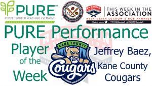 Kane County OF Jeffrey Baez Named PURE