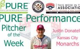 Kansas City Monarchs RHP Justin Donatella Named PURE Performance Pitcher of the Week