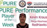 Fargo-Moorhead RedHawks C Kevin Krause Named PURE Performance Player of the Week