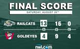 Jones, RailCats Roll over Goldeyes Again