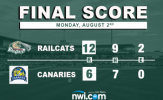 Mercado Drives in Four as RailCats Open with Win