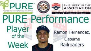 Railroaders IF Ramon Hernandez Named