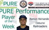Railroaders IF Ramon Hernandez Named PURE Performance Player of the Week