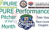 Kane City Cougars RHP Tyler Viza Named PURE Performance Pitcher of the Month for July