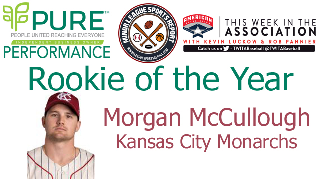 Kansas City Monarchs IF Morgan McCullough Named PURE Performance Rookie of the Year