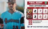 Heyman Walk-Off Single Gives Wild Things Lead in Frontier League Championship
