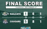 RailCats Bats Silenced in Loss to Cougars