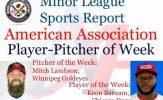 Dogs Keon Barnum, Goldeyes Mitch Lambson Honored in Week 14