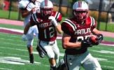 Leavens Four TDs Highlights Pipers Victory over Scots, 31-27