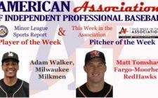 Walker, Tomshaw Awarded Week 8 American Association Honors
