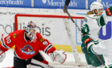 Mayhew Scores Two to Lead Wild to 5-3 Victory
