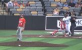 RailCats Rally Late, Long Leads Saltdogs to Victory, Controversial Forfeit