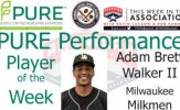 Milwaukee Milkmen OF Adam Brett Walker II Named PURE Performance Player of the Week