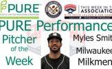 Milwaukee Milkmen Myles Smith Named PURE Performance Pitcher of the Week