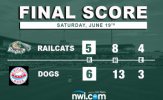 RailCats Fall to Dogs in Extra-Innings, 6-5