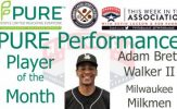 Milwaukee Milkmen OF Adam Brett Walker II Named PURE Performance Player of the Month for June
