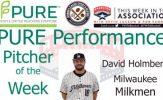 Milwaukee Milkmen LHP David Holmberg Named PURE Performance Pitcher of the Week