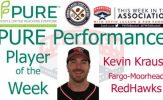 Fargo-Moorhead RedHawks Catcher Kevin Krause Named PURE Performance Player of the Week