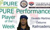 Cleburne Railroaders IF Osvaldo Martinez Named PURE Performance Player of the Week