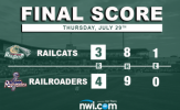 RailCats Fall Short in Series Finale in Cleburne