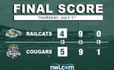 Karaviotis Ruins RailCats Rally, Gives Cougars Win