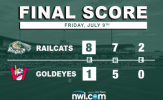 Lubking Crowns Goldeyes as RailCats Roll to Victory