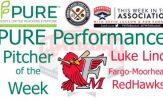 Fargo-Moorhead RedHawks RHP Luke Lind Named PURE Performance Pitcher of the Week