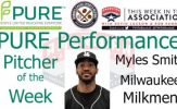 Milwaukee Milkmen RHP Myles Smith Named PURE Performance Pitcher of the Week