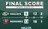 Big Frames Tame RailCats in 13-5 Loss