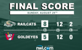 Woodworth, Olund Drive in Three as RailCats Complete Sweep
