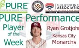 Kansas City Monarchs IF Ryan Grotjohn Named PURE Performance Player of the Week
