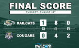 Phillips Dominates in RailCats Debut, Gary Blanks Cougars