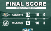 Rookard Scores Four to Lead RailCats to Victory